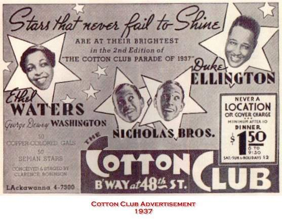 an introduction to the harlem renaissance the cotton club The harlem renaissance began around 1918 and lasted to about 1933  he  was the headliner at the cotton club from december 4, 1927 into the 1930's  ii  and the introduction of recording tape made this style flourish from 1945 to 1960.